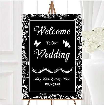 Cartel de bienvenida a nuestra boda, personalizable, diseño ...