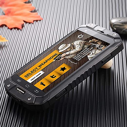 GUOPHONE teléfono portátil V9 4.5 Inch irrompible al Polvo, antigolpes Impermeable Smartphone 3 G antigolpes teléfono portátil Android 5.1 binucléaire MTK6572 Doble ...