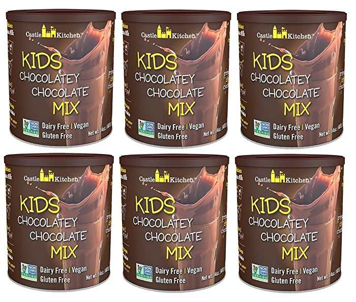 Chocolate Drink Mix Powder For Kids - All Natural, Dairy-Free, Vegan Chocolate Milk Mix - Just Add Any Milk Substitute - 14 oz (Pack of 6)