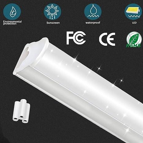 Tubo fluorescente LED T5, lámpara de techo con cubierta de ...