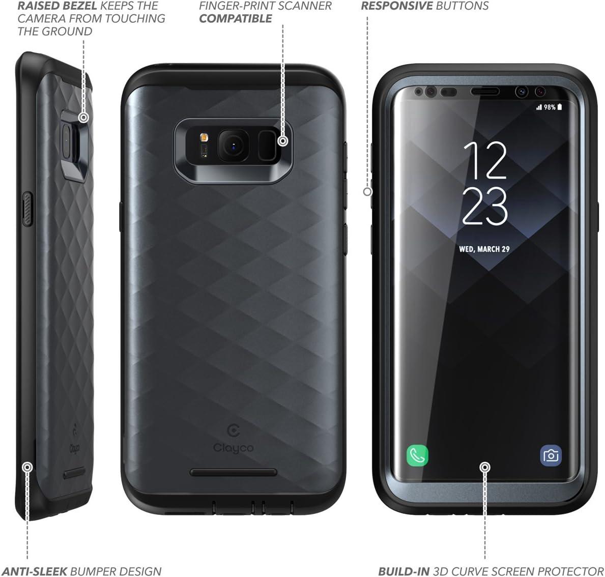 /Étui robuste ajust/é avec protecteur d/écran pour Samsung Galaxy S8+ Plus S/érie Hera /Étui pour Galaxy S8+ Plus Clayco Or /Édition 2017