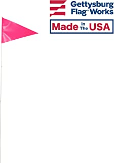 product image for Quantity 6-12x18 Bright Pink Vinyl Bike Flag Mounted on 6' Single Piece Fiberglass Bicycle whiprod, Made in USA