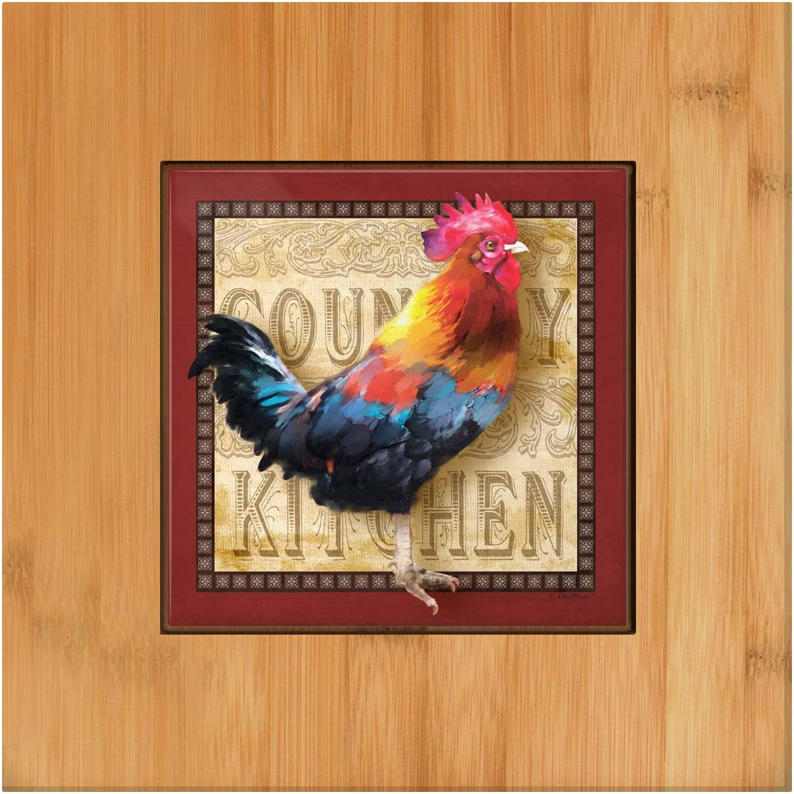 Rustic Rooster Kitchen Decor Country Kitchen Trivet Rooster