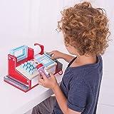Bigjigs Rail Wooden Toy Cash Register with Scanner