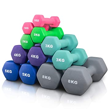 Arteesol Mancuernas 1kg/2kg/3kg/4kg/5kg/8kg Pares con Mancuernas