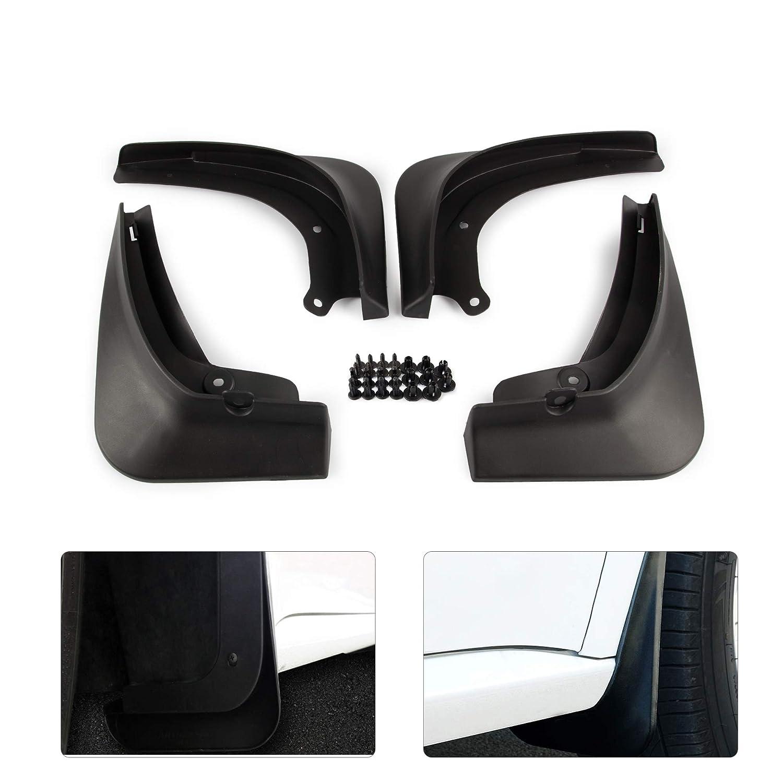 4PCS Plastic Front Rear Wheel Mudguards with Screws ROCCS Tesla Model 3 Mud Flaps Splash Guard Fenders
