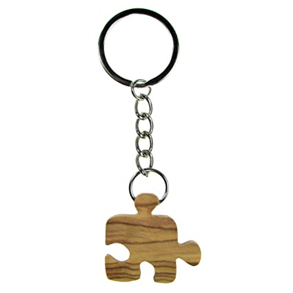 From The Earth - Olive Wood Puzzle Piece Keychain - Fair Trade & Handmade