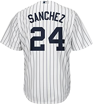 OuterStuff Gary Sanchez New York Yankees #24 - Camiseta de manga corta, color blanco, Jovenetud XL , Wht/Pinstripe: Amazon.es: Deportes y aire libre