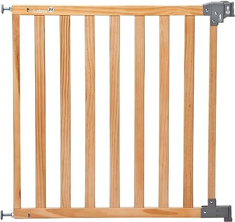 Safety 1st 24620104 Simply Pressure Standard - Barrera de seguridad de madera natural, sujeción por presión: Amazon.es: Bebé