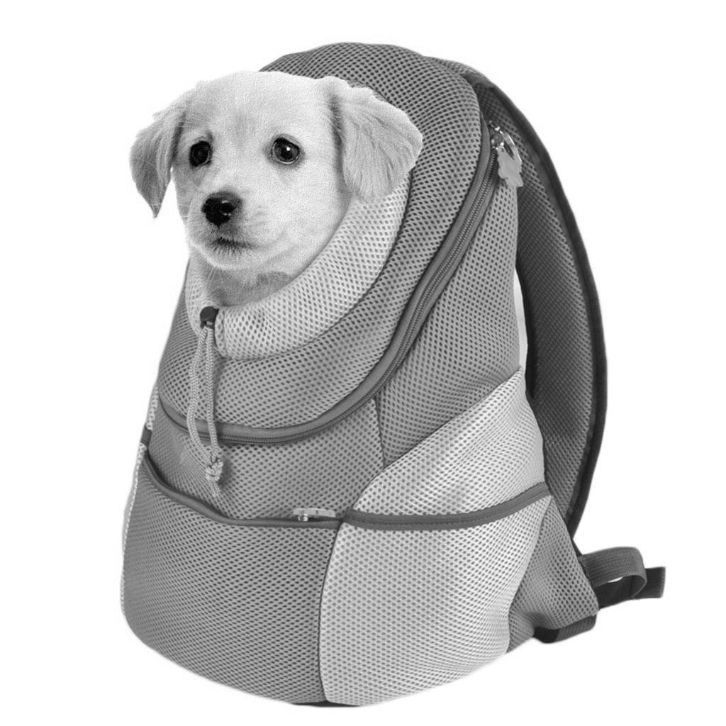 0~3kg Tama/ño : M Mochila para Mascotas Verde Carrier Respirable Head out Design Pet Cat Dog Puppy Carrier Bolsa De Viaje Outdoor Portable Double Shoulder Bags Tres Tama/ños