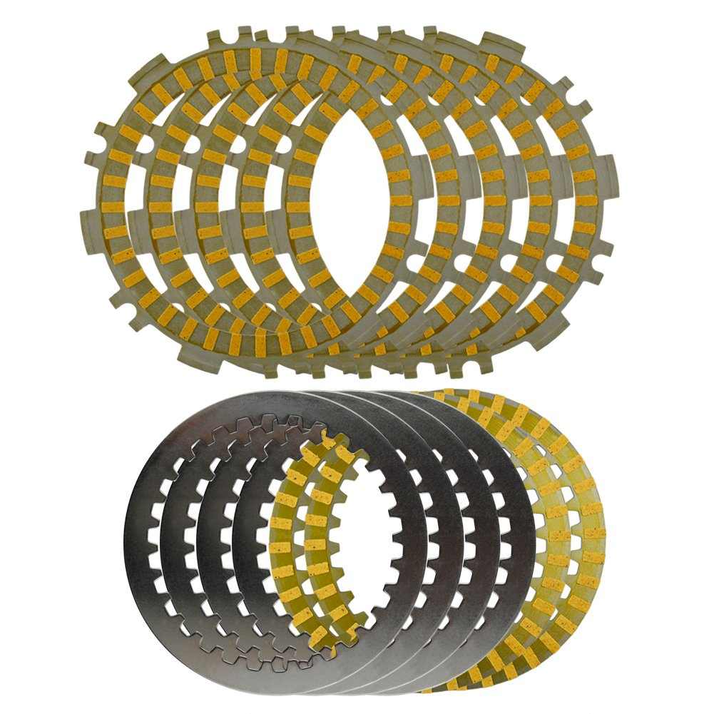 AHL Motorcycle Clutch Friction Plates & Steel Plates Kit for Yamaha XP500 T-MAX 500 2002-2011
