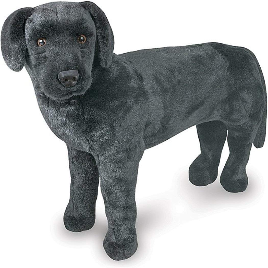 1 Piece Black 30 Inch Black Labrador Dog Animal Stuffed Toy, Small Dog Breed Puppy Fur Coat Big Ears Lifelike Medium Size For Kids Boys Medium Size Plush Toy Cute Fluffy Pet Animal Themed by UNK