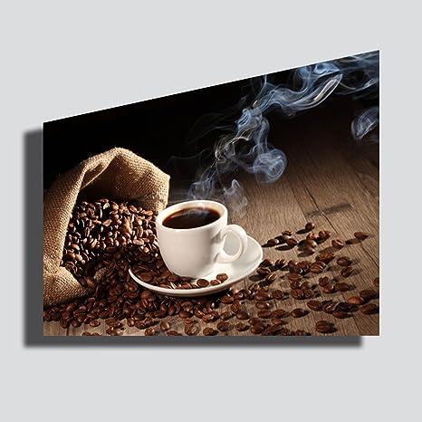 Quadro moderno XXL CAFFE caffè ristorante bar caffetteria STAMPA SU TELA Quadri Moderno Arredamento arredo Cucina Soggiorno Camera da letto printerland.it 30x50 cm Arte Decorazioni per interni