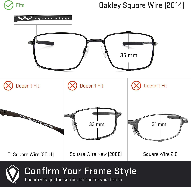 Revant Verres de Rechange pour Oakley Square Wire (2014) Photochromique Gris Adaptatif Nonpolarisés Elite