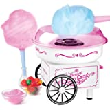 Nostalgia PCM325WP Vintage Hard and Sugar Free Countertop Cotton Candy Maker, Includes 2 Reusable Cones And Scoop…