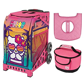 bd4a12cfd715 Image Unavailable. Image not available for. Color  Zuca Hello Kitty Beach  Bum Sport Insert Bag w Pink Frame ...