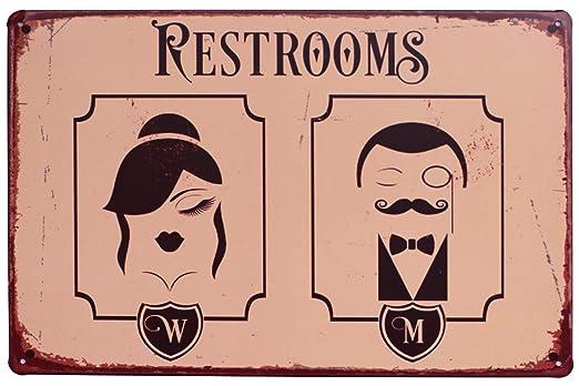 Sumik Retrooms - Cartel de Metal, diseño Vintage: Amazon.es ...