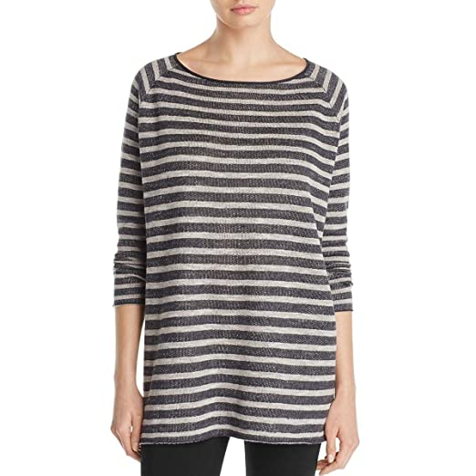 fb8d6b47251 Image Unavailable. Image not available for. Color: Eileen Fisher Womens Boatneck  Striped Tunic ...