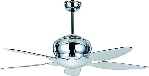 Sulion Spring Ventilador de techo Grande, 15 W, Cromo/Transparente ...