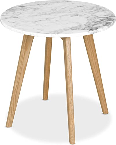 Poly and Bark Riley Marble 20 Round Side Table