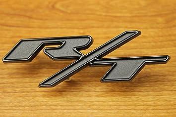 Dodge Challenger Gray And Black Blacktop Edition R//T Grille Badge NEW OEM MOPAR