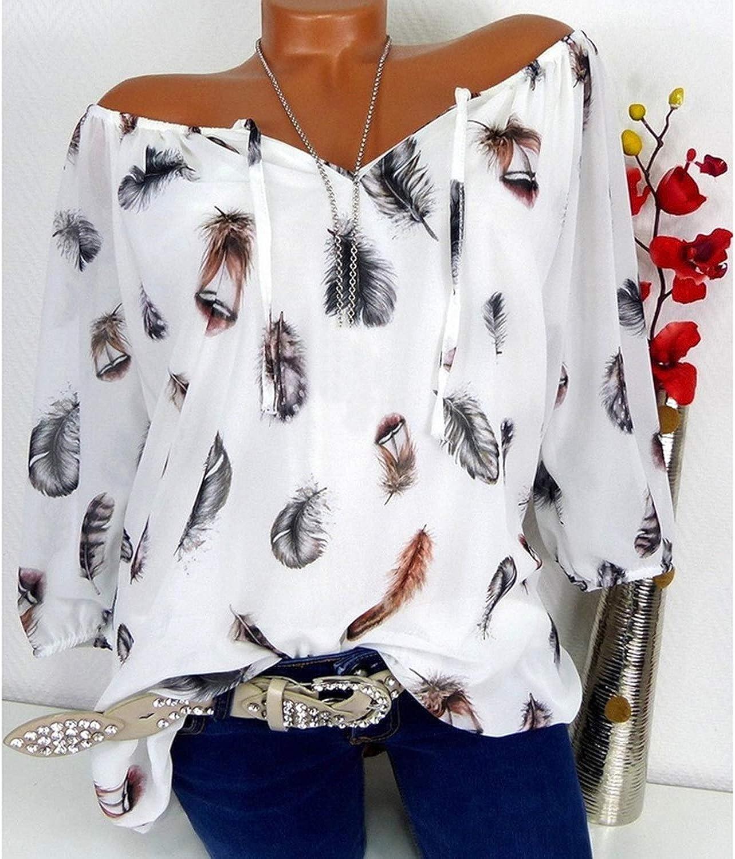 Zcxss - Blusa de Gasa con Cuello en O para Mujer - Blanco - XX-Large: Amazon.es: Ropa y accesorios