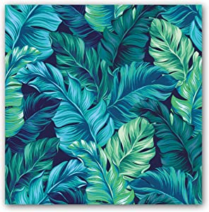 Tropical Leaves Posters And Prints Banana Leaf Wall Art Canvas Painting Pictures Minimalist Nordic Home Decoration (30x30cm) Frameless