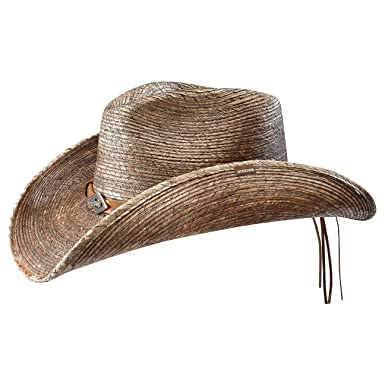 78b7ca5ae0b78e Stetson Monterrey Bay Western Straw Hat Women/Men | Made in USA Men´s Cowboy  Summer with Leather Trim Spring-Summer: Amazon.co.uk: Clothing