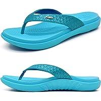 KuaiLu Chanclas Mujer Verano Playa Sandalias de piscina Apoyo de Arco Ortopedicas Chanclas Zapatos Cómodos para Caminar…