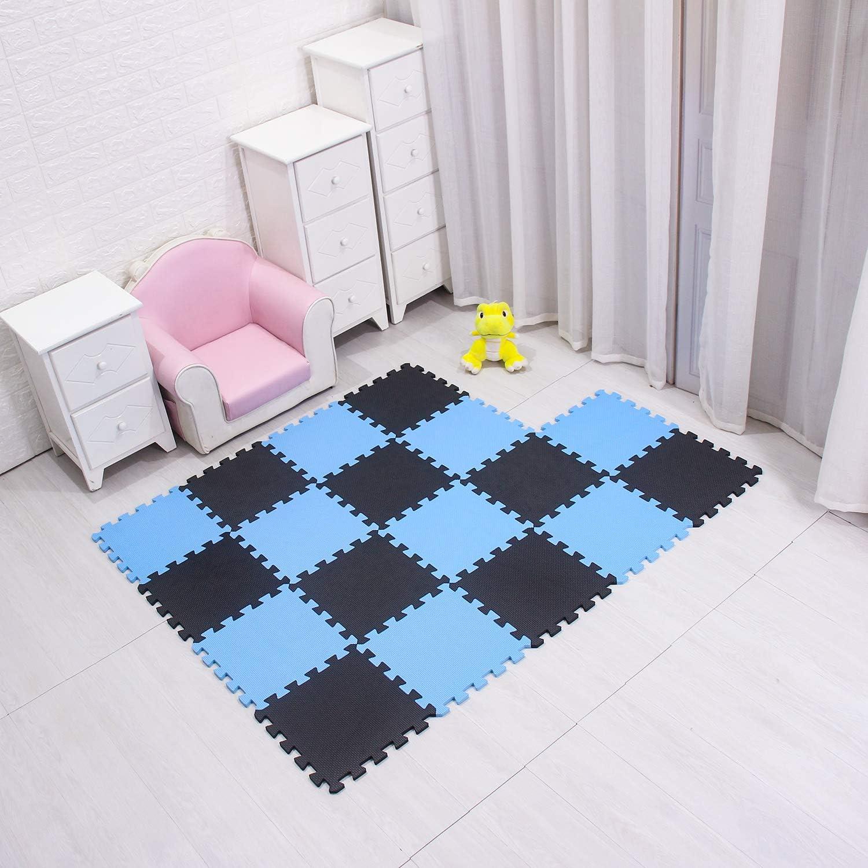 meiqicool Puzzle Tapis de Jeu Tapis de Jeu en Mousse de Tapis de Puzzle Tapis Enfants Blanc et Gris 0112