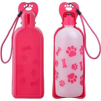 Botella de Agua Plegable para Perro Gato Mascotas BPA Free