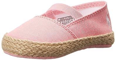 665c04dc4 Ralph Lauren Layette Bowman Espadrille (Infant/Toddler), Pink Chambray, 0 M