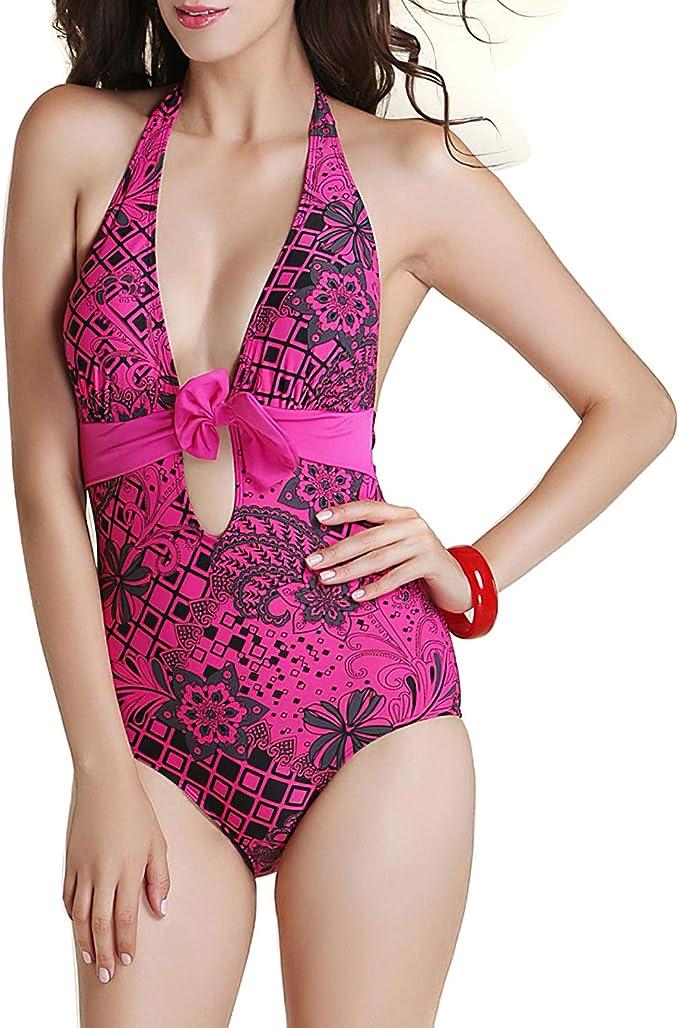 Dekos Womens Two Piece Tummy Control Backless Tankini Swimsuits Bathing Suit Summer Beachwear