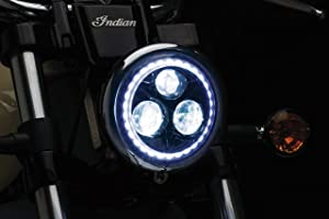 "Kuryakyn 2462 Motorcycle Lighting Accessory: 5-3/4"" Orbit Vision LED Headlight for Harley-Davidson, Indian, Victory Motorcycles"