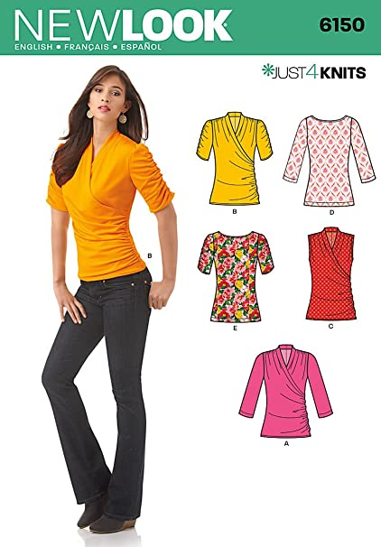 5c2f5d677477 Amazon.com  Simplicity Creative Patterns New Look 6150 Misses  Knit ...