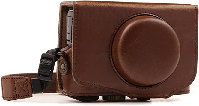 Color : Black SX720 HS Durable Full Body Camera PU Leather Case Bag with Strap for Canon PowerShot SX730 HS