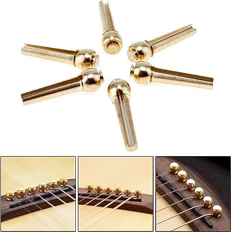 Mejor Deals para Navidad 】 OriGlam, 6 piezas guitarra puente Pins ...