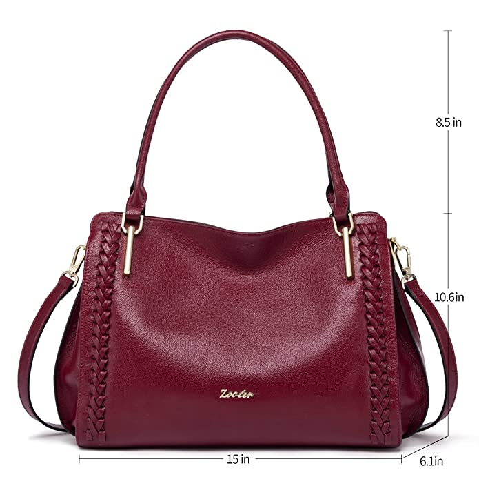 Amazon.com: ZOOLER Leather Purses and Handbags for Women Shoulder Bags Satchel Ladys Tote …: Shoes
