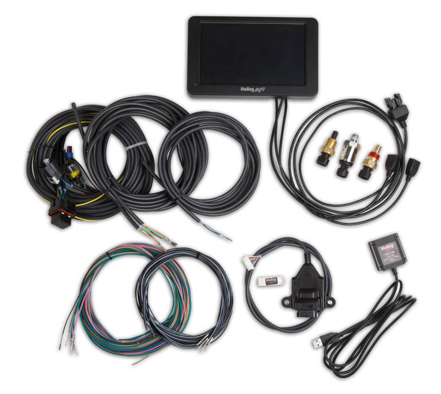 Holley 553-109 Holley EFI Digital Dash 7 in. Full Color Touch Screen Multiple Gauge/Indicator Types Limitless Customization Holley EFI Digital Dash
