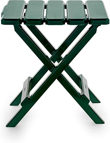 Camco 51681 Adirondack Portable Outdoor Folding Side Table, Perfect for The Beach, Camping, Picnics, Cookouts and More, Weatherproof and Rust Resistant – Green