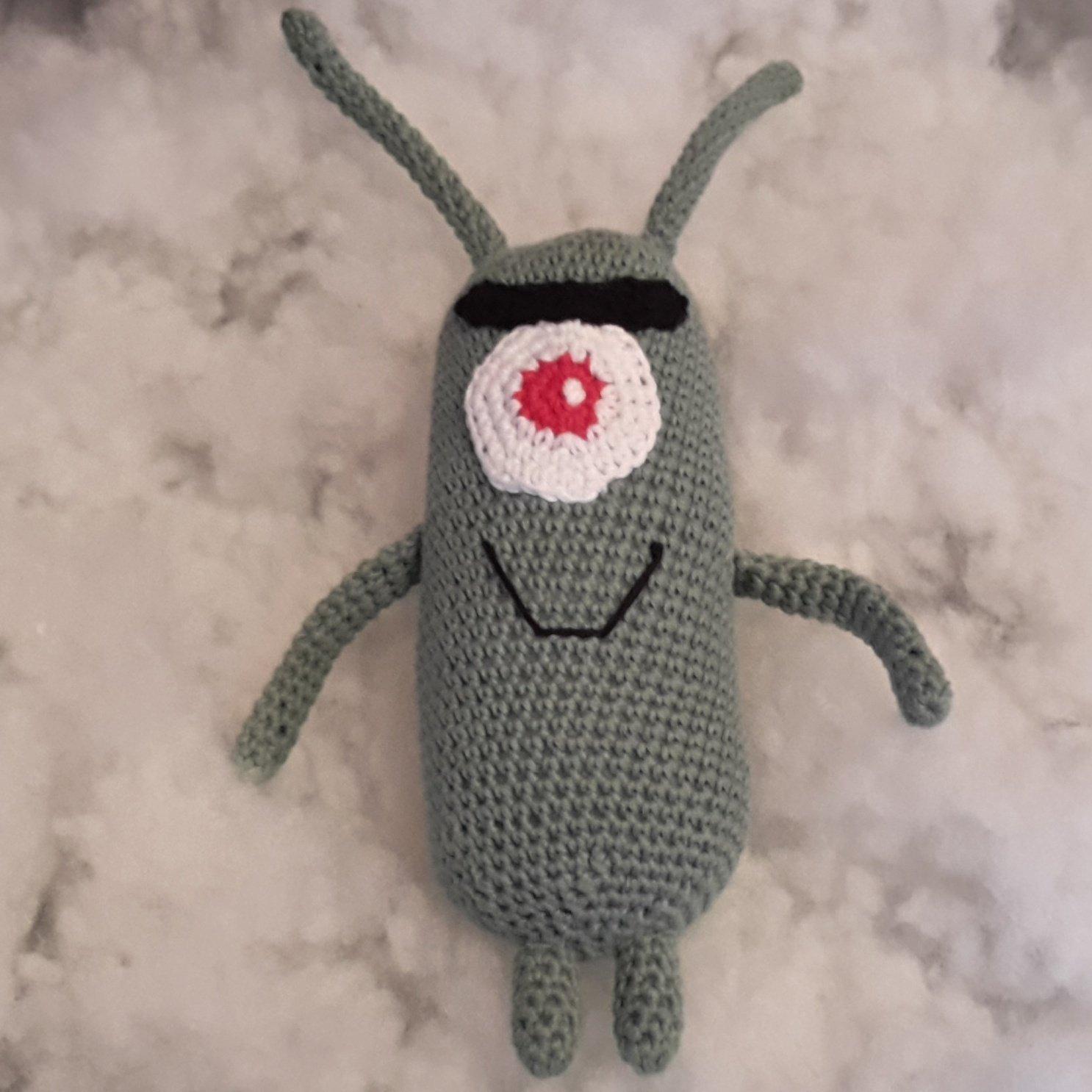 Amigurumi de Plankton.