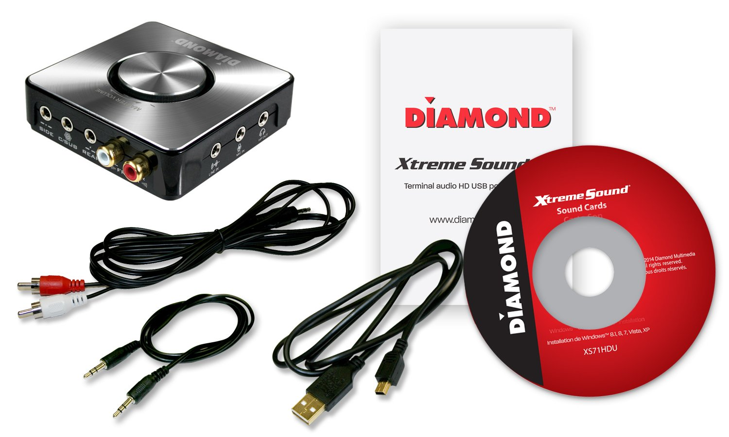 Amazon.com: Diamond Multimedia USB Xtreme 24 bits de sonido ...