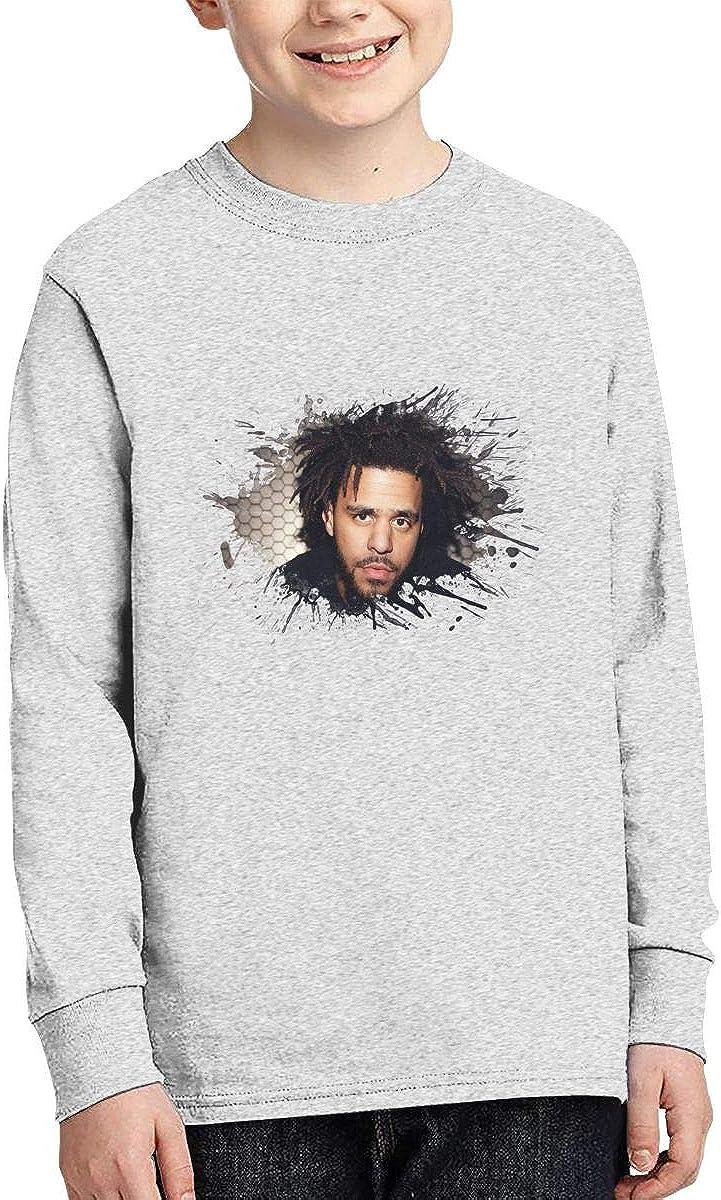 HangHisi J Cole Boys /& Girls O Neck Regular Style Tee Long Sleeve T Shirt Leisure