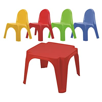 Starplay Keren Kids Play Table & 4 Chairs Primary Colors: Toys & Games