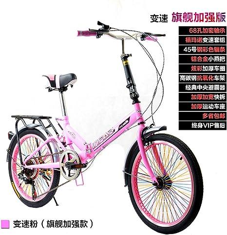 21 velocidades Plegable Bicicleta de montaña Bicicleta,24 pulgadas ...