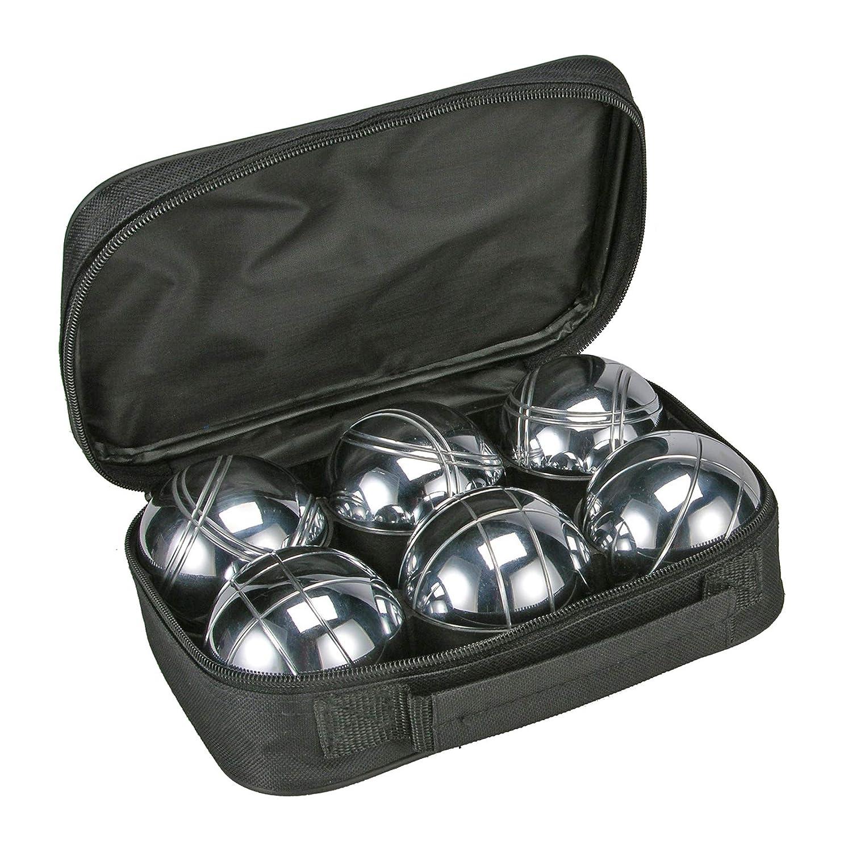 con Caja de Transporte de Metal 6 Pelotas de 720/g Unbekannt Juego de Boccia Bola de Madera y Cinta magn/ética