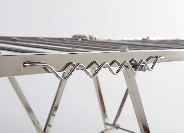 Silver Domus Style Kosmos /Étendoir /à Linge en Acier Inoxydable Inoxydable