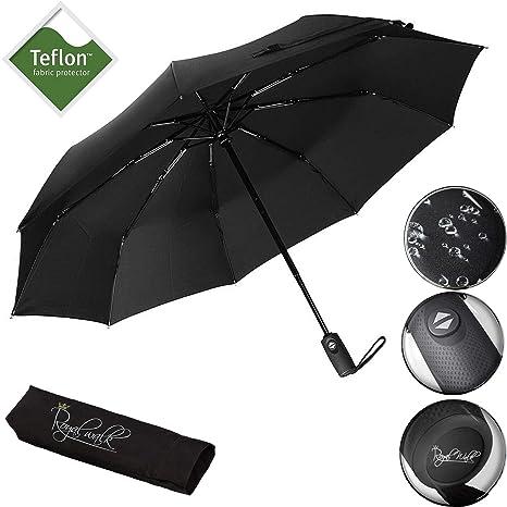 Royal Walk Regenschirm Taschenschirm Automatik Reise für Damen und Herren klassisch klein leicht windsicher sturmfest bis 140