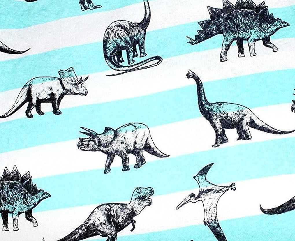 Babyfashion Pigiama Pantaloncini 2 Pezzi di Dinosauro Sia Par Bambino Sia per Ragazzo Sono 100/% di Cotone da 2 Anni Fino a 10 Anni