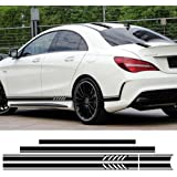 Edition 1 Style Stripe Top Roof Bonnet Side Skirt Stripes Vinyl Decal Stickers for Mercedes Benz